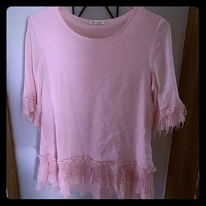 Pink frilly ruffle dress/shirt